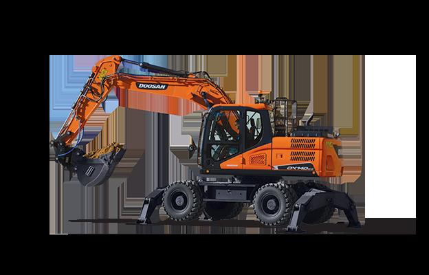 Used, 2020, Doosan Construction, DX140W-5, Excavators